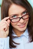 From behind the glasses Royalty Free Stock Image