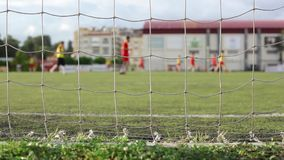Behind The Goal Net. Royalty Free Stock Photography