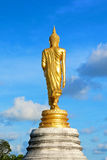 Behind of golden buddha statue Royalty Free Stock Photos