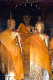 Behind golden buddhism statue. Behind golden religion buddhism statue Stock Images