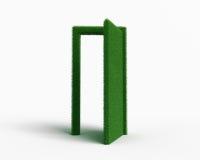 Behind the grass door. A little grass door still open on wath yoy wants Stock Photo