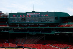 Behind Homeplate at Fenway Park, Boston, MA. Stock Images