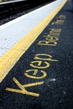 Behind the line. A DART platform in Dublin, Ireland Royalty Free Stock Images