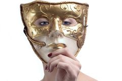 Behind the mask Royalty Free Stock Photo
