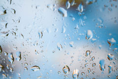 Behind the mirror of rain drops Royalty Free Stock Photos