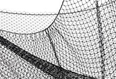 Behind the net. Safety Net on the Playing Field royalty free stock images