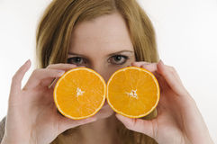 Behind the oranges Royalty Free Stock Photos