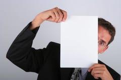 Behind paper Stock Photos