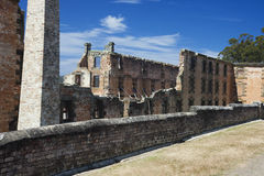 Behind the penitentiary building Royalty Free Stock Image