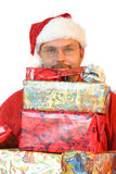 Behind the presents Stock Photography