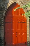 Behind the Red Door Church in Westfield New York Stock Images