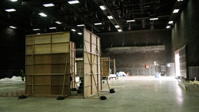 Behind the scene. In the movie set design stock photos