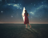 Behind the stars Royalty Free Stock Images