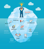 Behind the success business of the iceberg concept background. Behind the success business of the iceberg concept vector background Royalty Free Stock Photography
