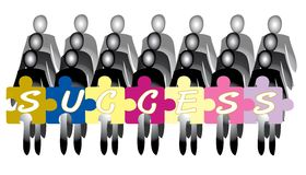 Behind Success Join Hands Together Business Two Tone Vector Stock Image