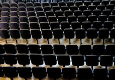 Behind theatre chairs Royalty Free Stock Photos