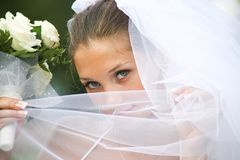 Behind veil Royalty Free Stock Images