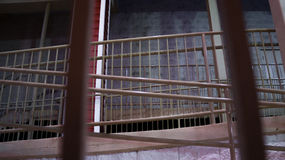 Behind walkway bars Stock Photos