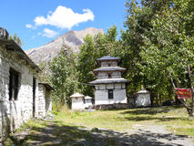 Behind the walls of Muktinath temple, Nepal Stock Photography