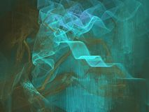 Behind the waterfall. Apopophysis abstract in blue/green, very detailed and great depth (large file). Can be rendered larger on request Stock Images