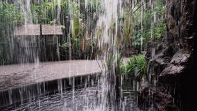 Behind The Waterfall stock video footage
