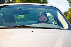 Behind the Wheel royalty free stock photography