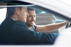 Behind the wheel Stock Photography