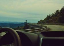 Driving through the mountains stock photos