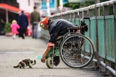 Behinderte Menschlichkeitsstandards einer modernen Gesellschaft Stockfotografie