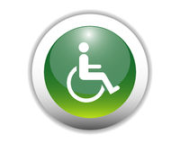Behinderte Zeichen-Ikonen-Taste stock abbildung