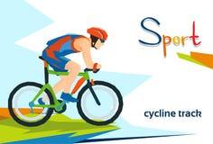 Behinderter Athleten-Cycling Track Sport-Wettbewerb Lizenzfreies Stockbild