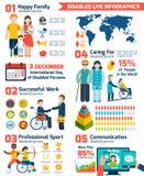 Behinderter Infographics-Satz Stockbild