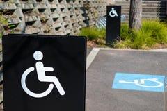 Behinderter Parkenpunkt Lizenzfreie Stockfotos