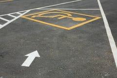 Behinderter Parkplatz Stockbild