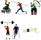 Behinderter streben herein Sport an Stockbilder