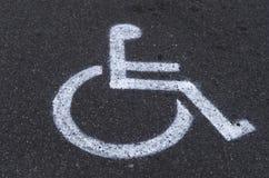 Behindertes carpark Zeichen Stockfoto