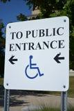 Behindertes Eingangs-Zeichen Lizenzfreie Stockbilder