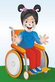 Behindertes Kind und Körperkunst vektor abbildung