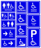 Behindertes, Mann- und Frauensymbol Stockfotos