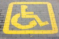 Behindertes Parkenzeichen Lizenzfreies Stockbild
