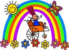 Behindertes Rollstuhl-Mädchen vektor abbildung