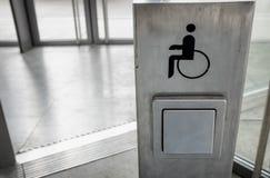 Behindertes Zeichen Stockfotografie