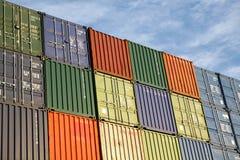behållare exporterar fraktsändnings Arkivfoto