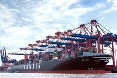 Behållare-port Hamburg Royaltyfri Bild