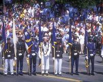 Behållaren på militären för ökenstormen ståtar, Washington, DC Royaltyfria Bilder