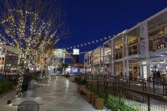 Behållaren parkerar att shoppa område i Las Vegas, NV på December 10, 20 Arkivfoton