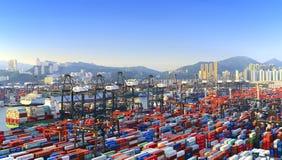 Behälter-Terminal Hong- KongKwai Chung Stockbilder