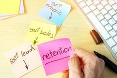 Behoud in digitale marketing Het concept van de verkooptrechter royalty-vrije stock foto