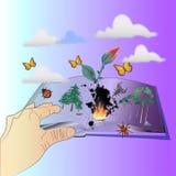 Behoud, sparen Wereld en Verbeelding vector illustratie
