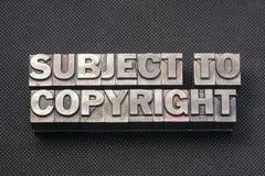 Behoudens auteursrecht BM royalty-vrije stock fotografie